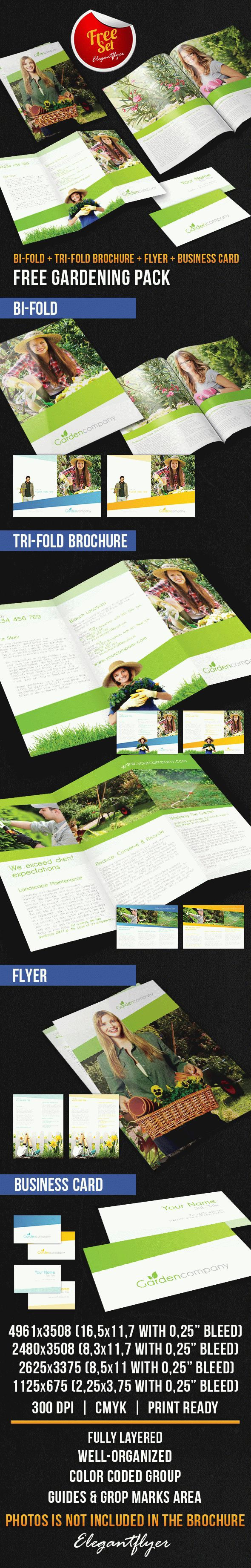 Gardening Brochure Pack – Free PSD Template