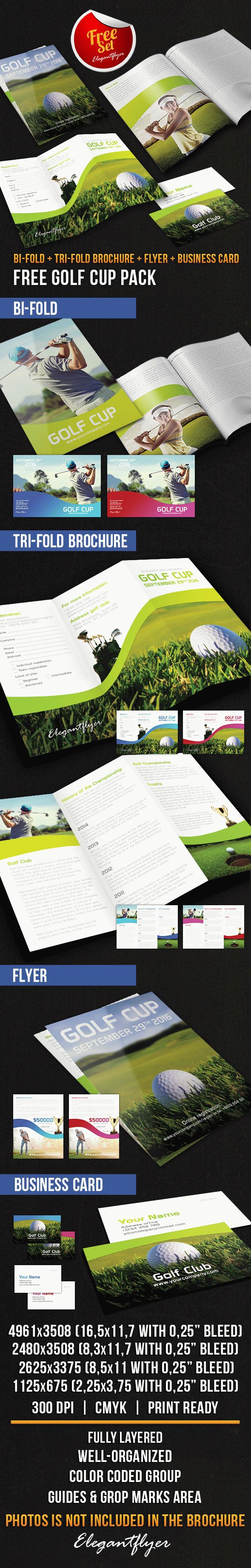 Golf Cup Brochure Pack – Free PSD Template