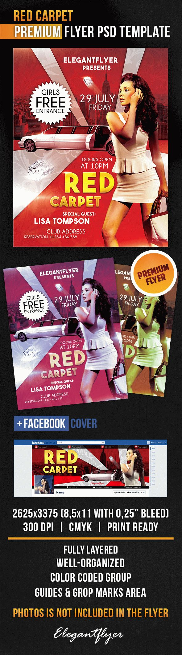 Red Carpet – Flyer PSD Template