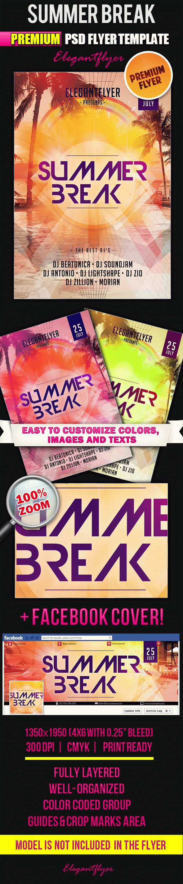 Summer Break Party Template