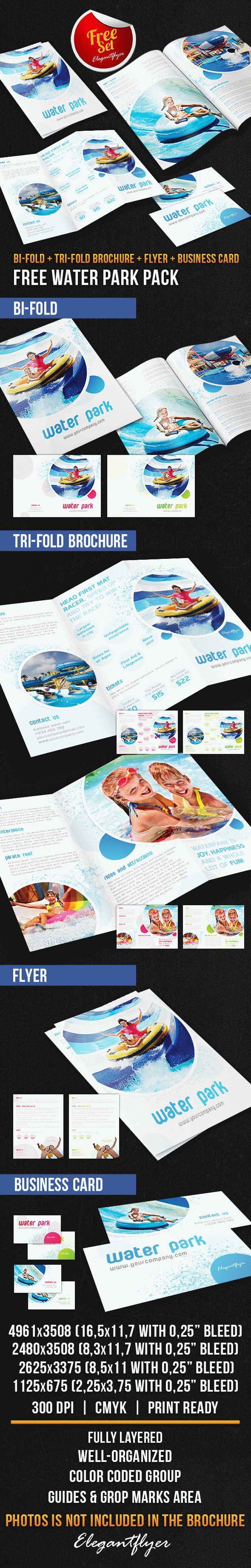 Water park brochure pack free psd template by elegantflyer for Water brochure template