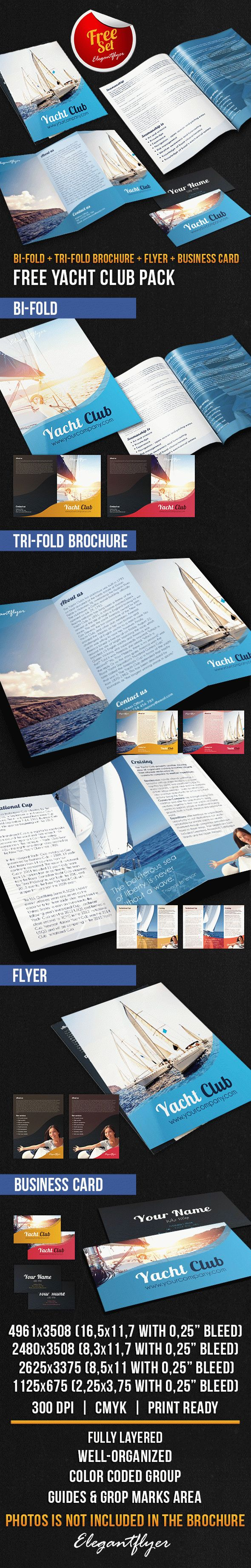 Yacht Club Brochure Pack – Free PSD Template