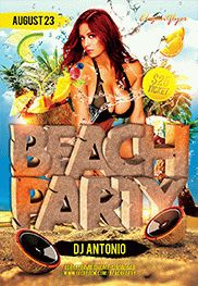 Beach Party 3 – Flyer PSD Template