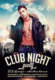 Saturday Night – Flyer PSD Template + Facebook Cover