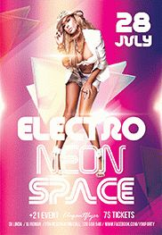 Space Night – Flyer PSD Template + Facebook Cover