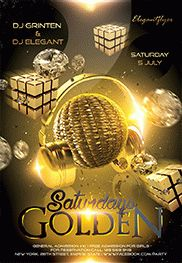 Golden Saturdays – Flyer PSD Template