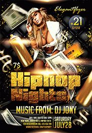 Hip Hop Party – Flyer PSD Template + Facebook Cover