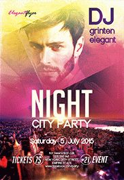 Night City party – Flyer PSD Template