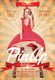 Retro Rave Party – Flyer PSD Template