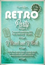 Oldschool party – Flyer PSD Template + Facebook Cover