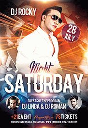 Saturday Night – Flyer PSD Template