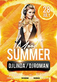 Summer mood – Flyer PSD Template