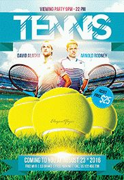 Tennis Tournament – Flyer PSD Template + Facebook Cover