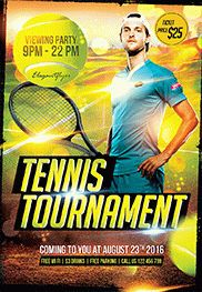 Tennis Game – Flyer PSD Template + Facebook Cover