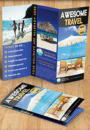 Travel Agency – Free Brochure PSD Template