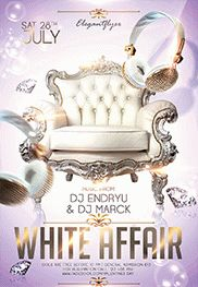 White Party – Flyer PSD Template + Facebook Cover