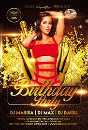 Birthday Invitation – Flyer PSD Template + Facebook Cover