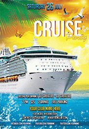 Smallpreview cruise party flyer psd template facebook cover for Club piscine flyer