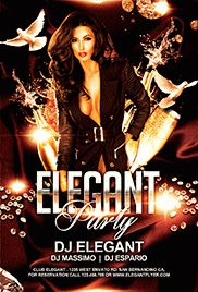 Elegant Party Dresses PSD Poster