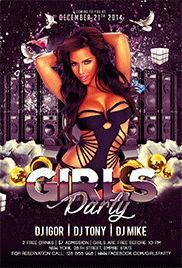 Girls Night – Flyer PSD Template