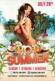 Hot Summer Party Poster