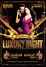 Luxury Night Party – Flyer PSD Template