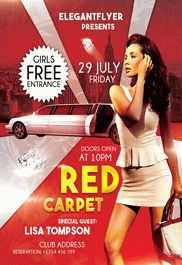 Red Carpet – Flyer PSD Template + Facebook Cover – by ElegantFlyer