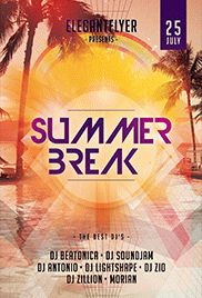 Hot Summer – Free Flyer PSD Template + Facebook Cover