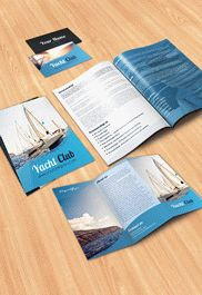Manufacture of Wearing Apparel – Bi-Fold PSD Brochure Template