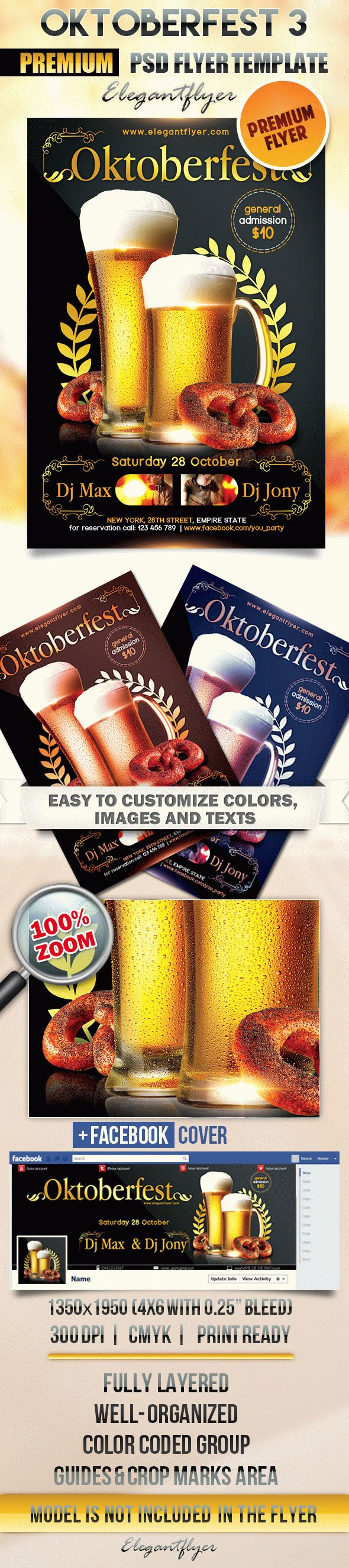 Oktoberfest 3 – Flyer PSD Template + Facebook Cover
