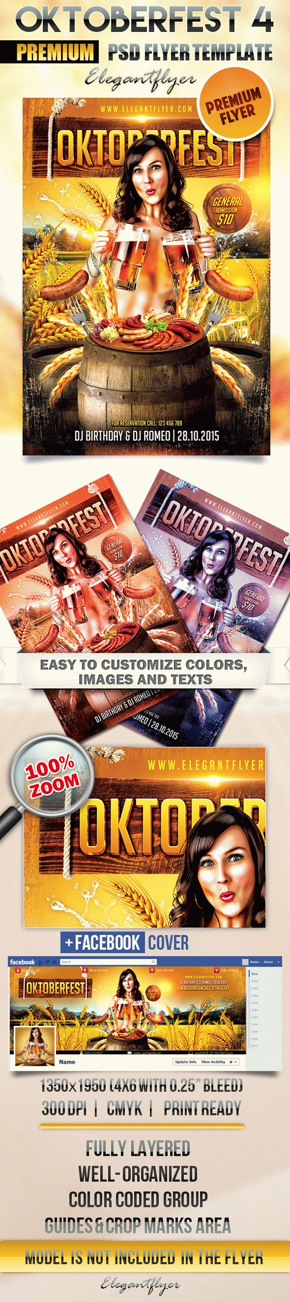 Oktoberfest 4 – Flyer PSD Template + Facebook Cover