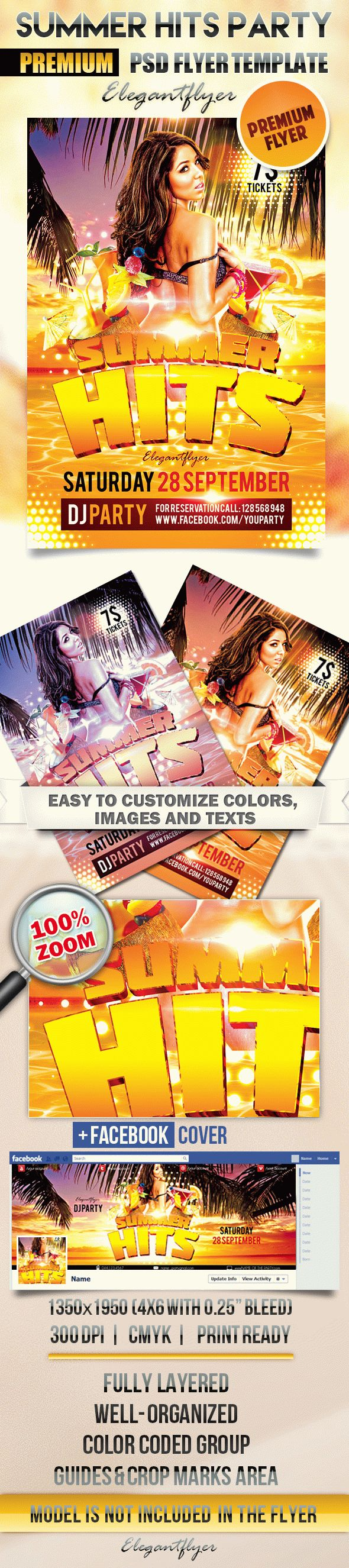 Summer Hits Party – Flyer PSD Template