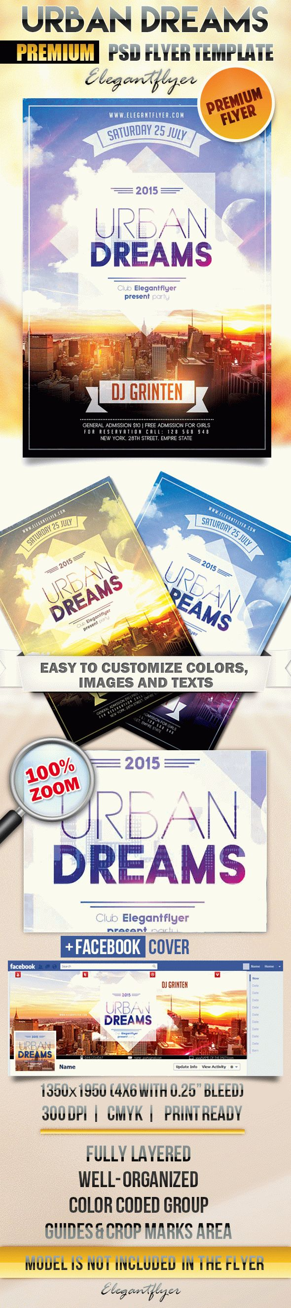 Urban Dreams – Flyer PSD Template