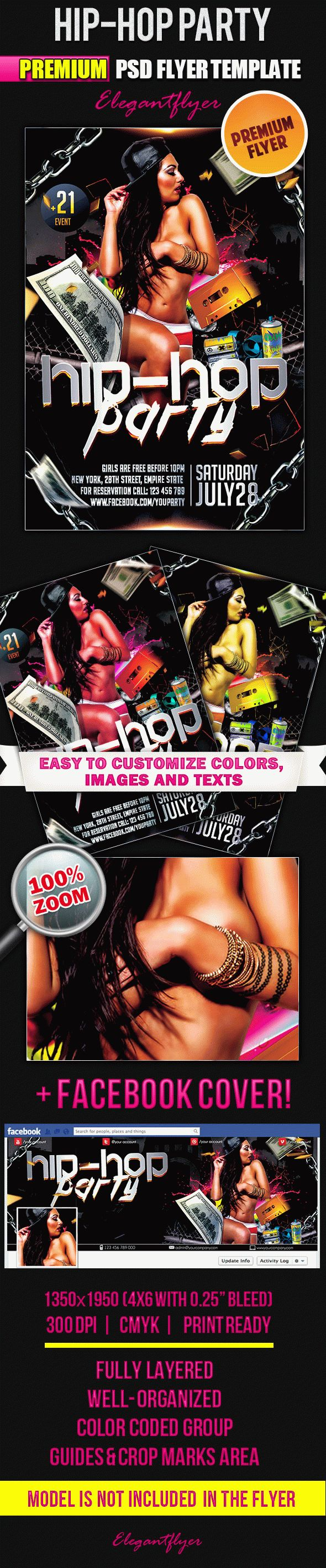 Hip-Hop Party – Flyer PSD Template