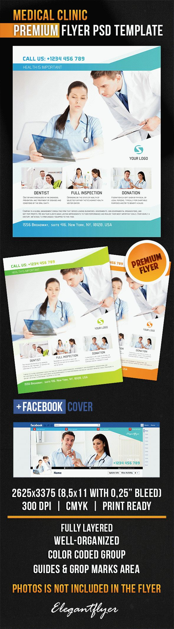 Medical Clinic Flyer Psd Template Facebook Cover on Freebie Parts Of Apple
