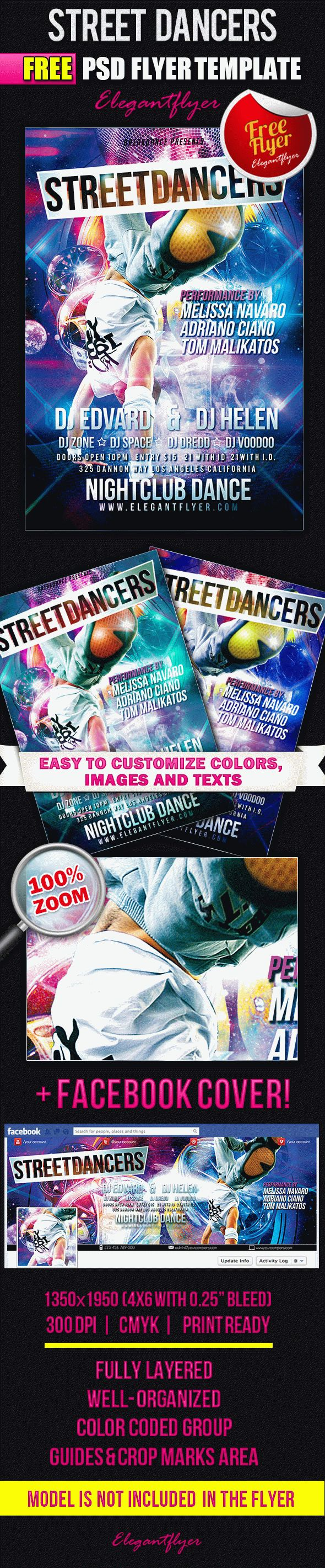 Street Dancers – Flyer PSD Template + Facebook Cover – by ...
