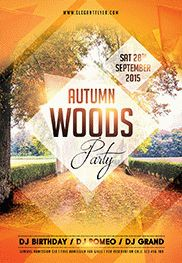 Autumn Gold – Flyer PSD Template + Facebook Cover