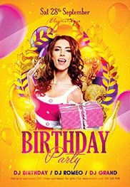 Birthday Party – Club and Party Free Flyer PSD Template – by ...