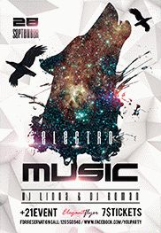 Electro Music 2 – Flyer PSD Template