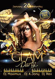 Glam Party – Flyer PSD Template