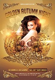 Autumn Night – Flyer PSD Template + Facebook Cover