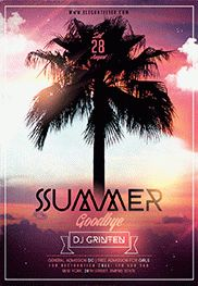 Only Summer Tracks – Flyer PSD Template + Facebook Cover