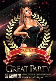 Great Party – Flyer PSD Template