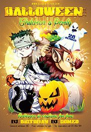 Happy Halloween party 2 – Flyer PSD Template + Facebook Cover