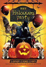 Halloween Pumpkin Party PSD Template