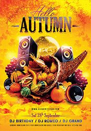 Autumn Party -Flyer PSD Template