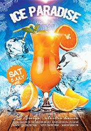 Ice Party – Flyer PSD Template