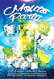 Tropical Night Party – Flyer PSD Template