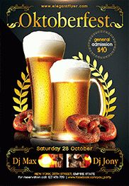 Oktoberfest Event – Flyer PSD Template