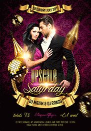 Upscale Saturday – Flyer PSD Template